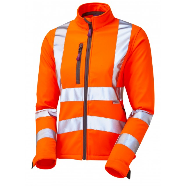 ISO 20471 Class 2 Women's Softshell Jacket Orange Women's Softshell Jackets