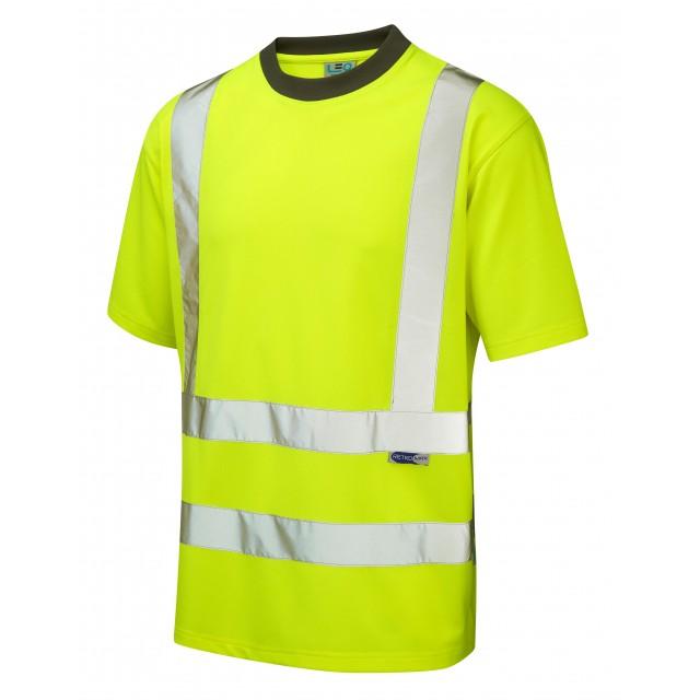 ISO 20471 Class 2 Coolviz T-Shirt Yellow Coolviz Polos & T-Shirts
