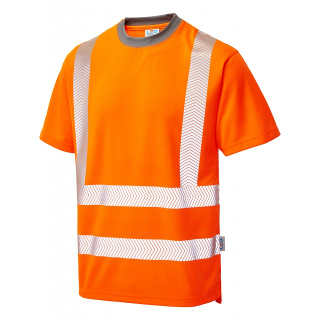 ISO 20471 Class 2 Coolviz Plus T-Shirt Orange Coolviz Plus