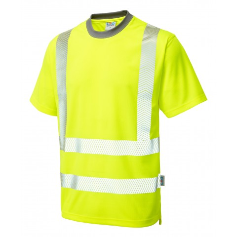 ISO 20471 Class 2 Coolviz Plus T-Shirt Yellow Coolviz Plus