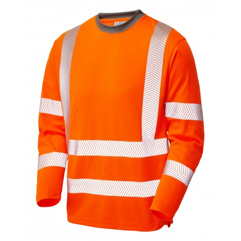 ISO 20471 Class 3 Coolviz Plus Sleeved T-Shirt Orange Coolviz Plus