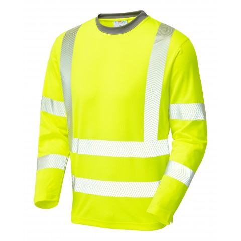 ISO 20471 Class 2 Coolviz Plus Sleeved T-Shirt Yellow Coolviz Plus
