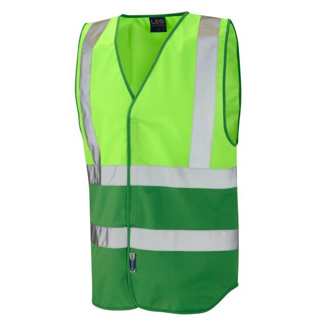 Dual Colour Reflective Waistcoat (Non ISO 20471) Lime/Green Dual Colour Waistcoats