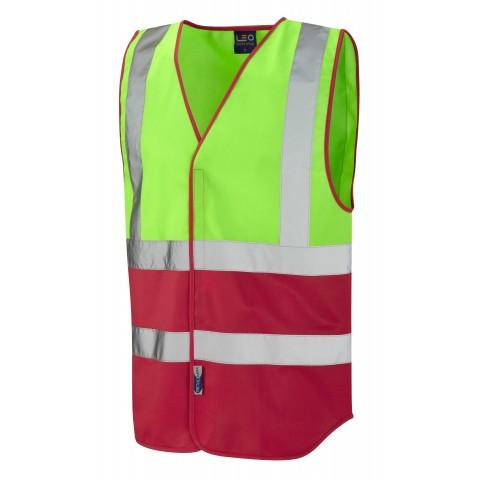 Dual Colour Reflective Waistcoat (Non ISO 20471) Lime/Red Dual Colour Waistcoats