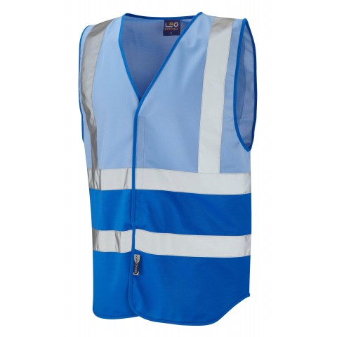 Dual Colour Reflective Waistcoat (Non ISO 20471) Sky/Royal Dual Colour Waistcoats