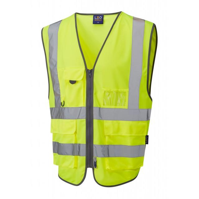 ISO 20471 Class 2  Superior 3-Part Waistcoat Yellow Railway Waistcoats