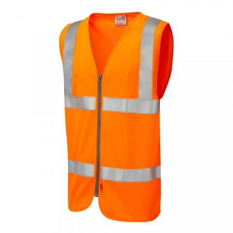 ISO 20471 Class 2 LFS Waistcoat Orange EN 14116 LFS Waistcoats