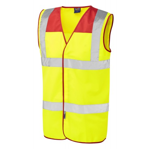 ISO 20471 Class 2 Red Yoke Waistcoat Standard Waistcoats