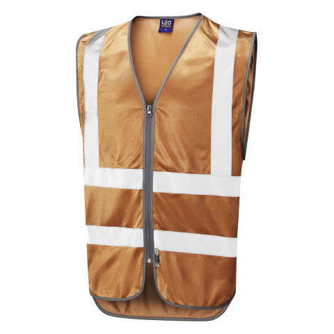 Single Colour Zipped Reflective Waistcoat (Non ISO 20471) Bronze Single Colour Waistcoats