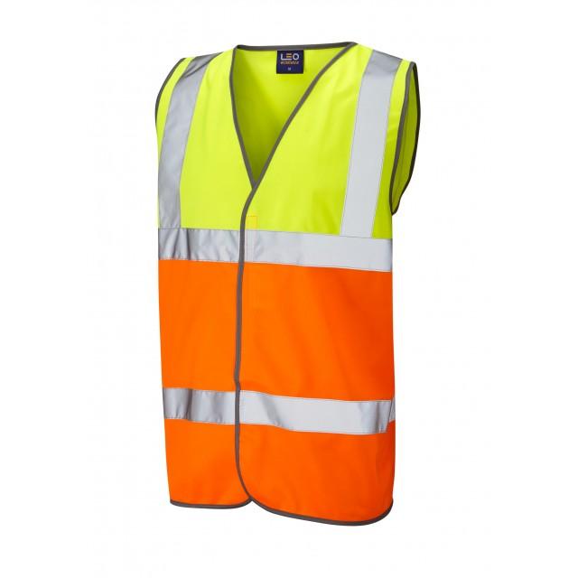 ISO 20471 Class 2 Waistcoat Yellow/Orange