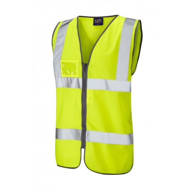 ISO 20471 Class 2 Zipped ID Waistcoat Yellow Standard Waistcoats