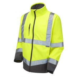 ISO 20471 Class 3 Softshell Jacket Yellow