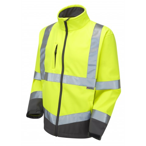 ISO 20471 Class 3 Softshell Jacket Yellow Softshell Jackets