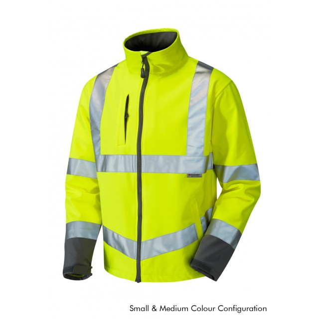 ISO 20471 Class 3 Softshell Jacket Yellow Softshell Jackets