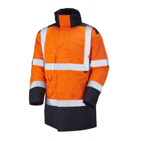 ISO 20471 Class 3 Anorak Orange/Navy Anoraks