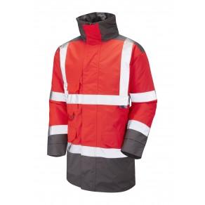 ISO 20471 Class 3 Anorak Red/Grey