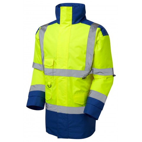 ISO 20471 Class 3 Anorak Yellow/Royal Blue Anoraks