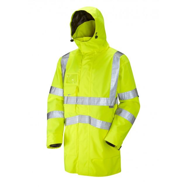 ISO 20471 Class 3 Breathable Executive Anorak Yellow Anoraks