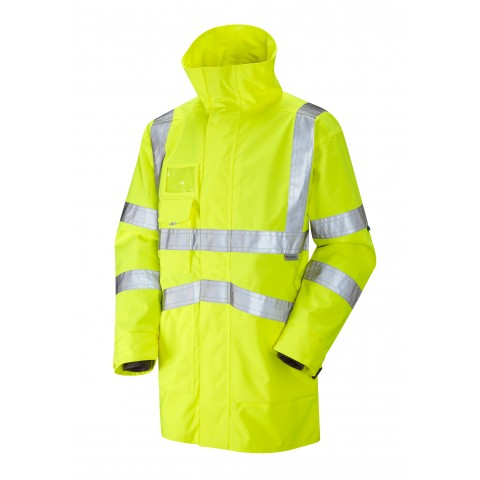 ISO 20471 Class 3 Breathable Executive Anorak Yellow Anoraks
