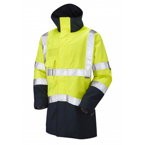 ISO 20471 Class 3 Breathable Executive Anorak Yellow/Navy Anoraks