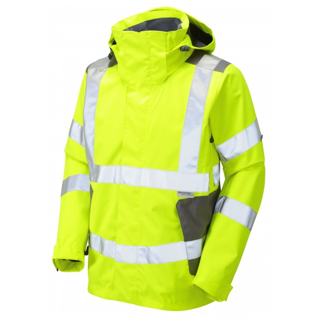 ISO 20471 Class 3 Breathable Jacket Yellow Breathable Jackets