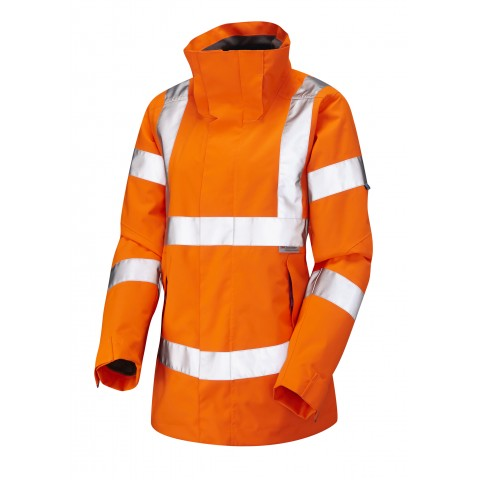 ISO 20471 Class 3* Ladies Breathable Jacket Orange Breathable Jackets