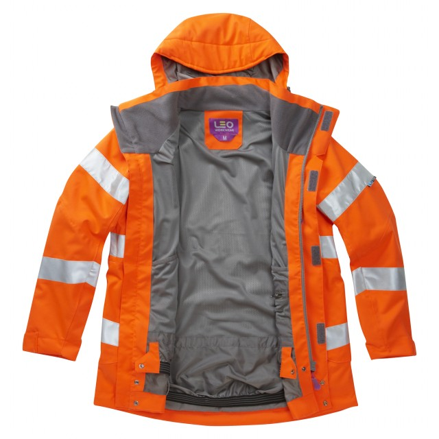 ISO 20471 Class 3* Women's Breathable Jacket Orange Breathable Jackets