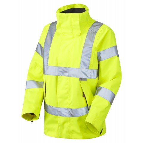 ISO 20471 Class 3* Ladies Breathable Jacket Yellow Breathable Jackets