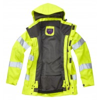 ISO 20471 Class 3* Women's Breathable Jacket Yellow Breathable Jackets