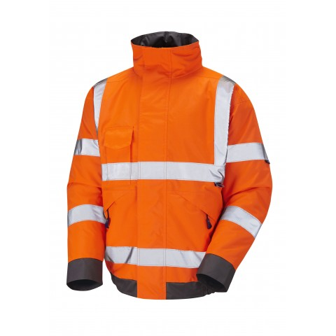 ISO 20471 Class 3 Bomber Jacket Orange Bomber Jackets