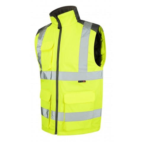 ISO 20471 Class 2 Bodywarmer Yellow Bodywarmers