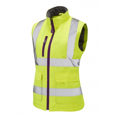 ISO 20471 Class 1 Ladies Bodywarmer Yellow Ladies Bodywarmer