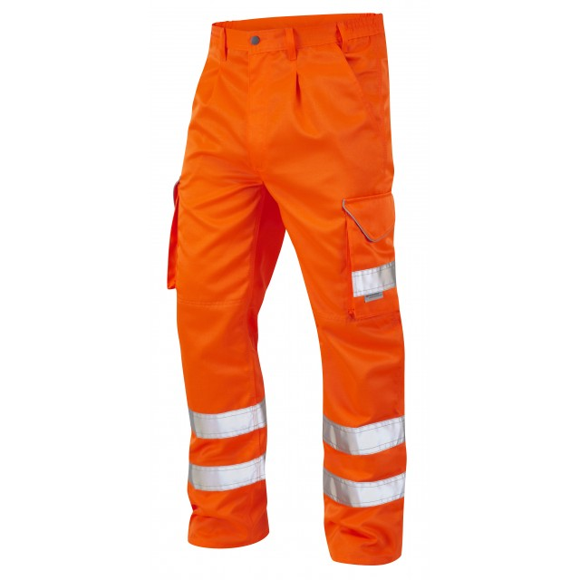 ISO 20471 Class 1 Cargo Trouser Orange Cargo Trousers