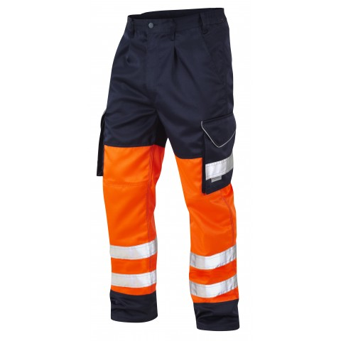 ISO 20471 Class 1 Cargo Trouser Orange/Navy Cargo Trousers