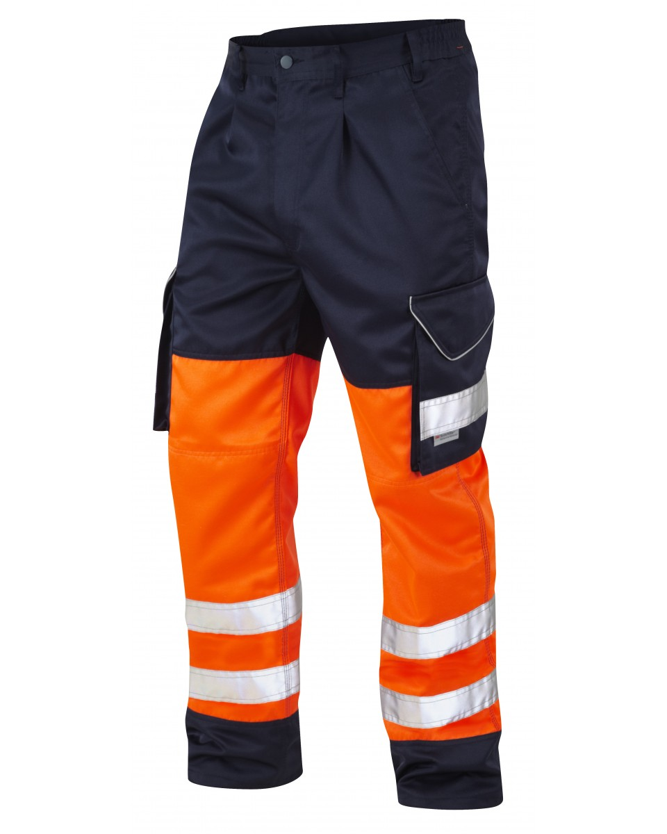 uk store cute cheap best selling ISO 20471 Class 1 Cargo Trouser Orange/Navy