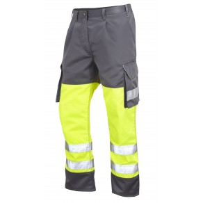 ISO 20471 Class 1 Cargo Trouser Yellow/Grey