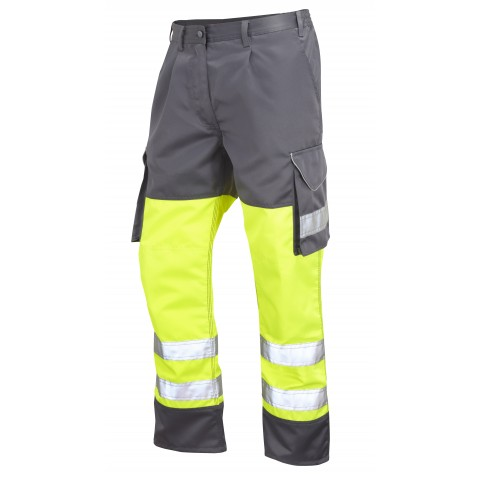ISO 20471 Class 1 Cargo Trouser Yellow/Grey Cargo Trousers