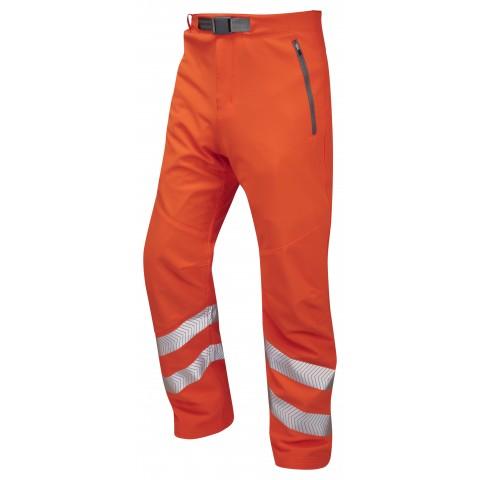 ISO 20471 Class 1 Stretch Work Trouser Orange Stretch Work Trousers