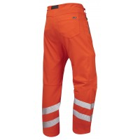 ISO 20471 Class 1 Stretch Work Trouser Orange Stretch Work Trousers