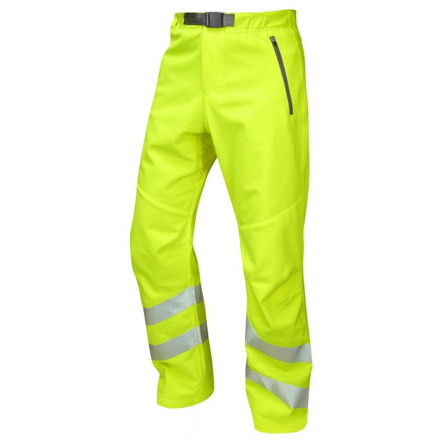 ISO 20471 Class 1 Stretch Work Trouser Yellow Stretch Work Trousers