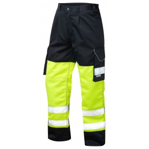 ISO 20471 Class 1 Cargo Trouser Yellow/Navy