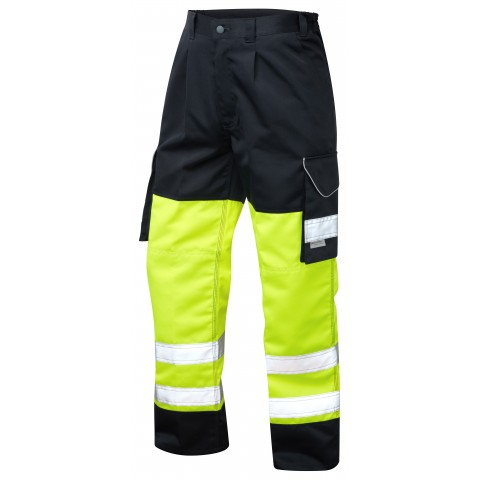 ISO 20471 Class 1 Cargo Trouser Yellow/Navy Cargo Trousers