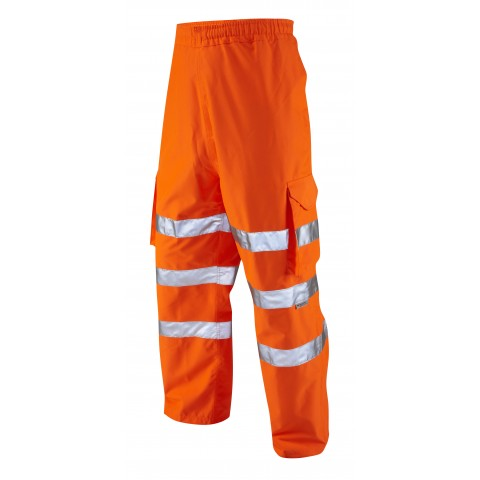 ISO 20471 Class 1 Breathable Executive Cargo Overtrouser Orange Overtrousers