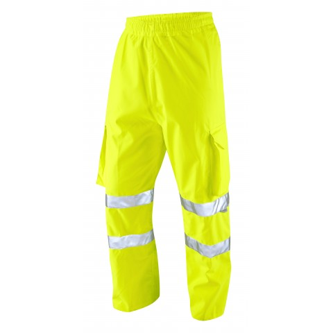 ISO 20471 Class 1 Breathable Executive Cargo Overtrouser Yellow Overtrousers