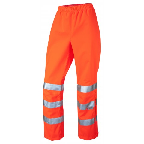 ISO 20471 Class 2 Breathable Ladies Overtrouser Orange Overtrousers
