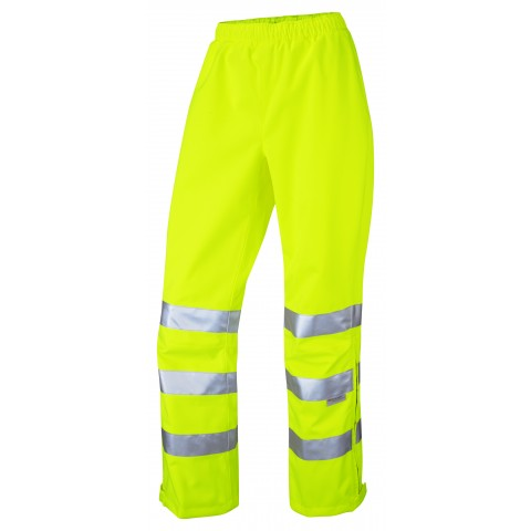ISO 20471 Class 2 Breathable Ladies Overtrouser Yellow Overtrousers