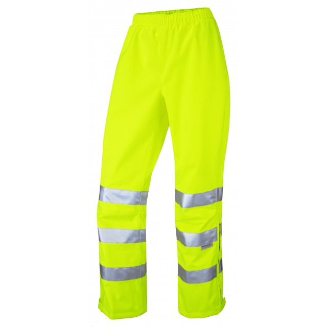ISO 20471 Class 2 Breathable Women's Overtrouser Yellow Overtrousers