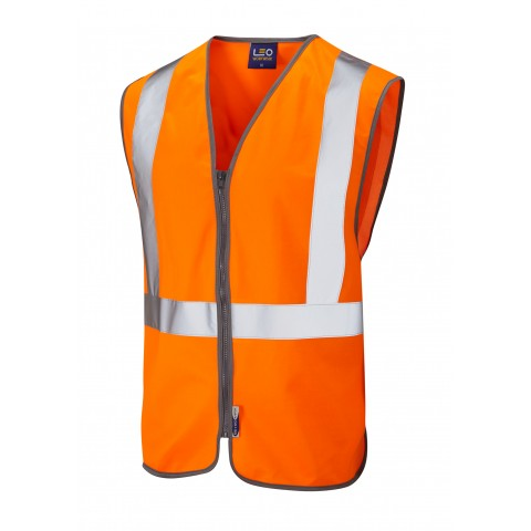 ISO 20471 Class 2 Railway Zip Waistcoat Orange Railway Waistcoats