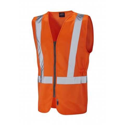 ISO 20471 Class 2 Railway Plus Waistcoat Orange Railway Waistcoats