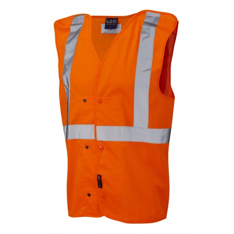 ISO 20471 Class 2 Underground Waistcoat Orange Railway Waistcoats